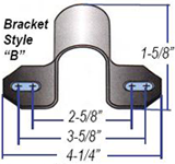 Non Greaseable Style B Bushing Brackets