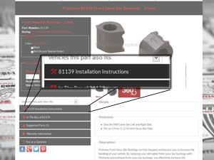 Where to find the Installation Instructions Button