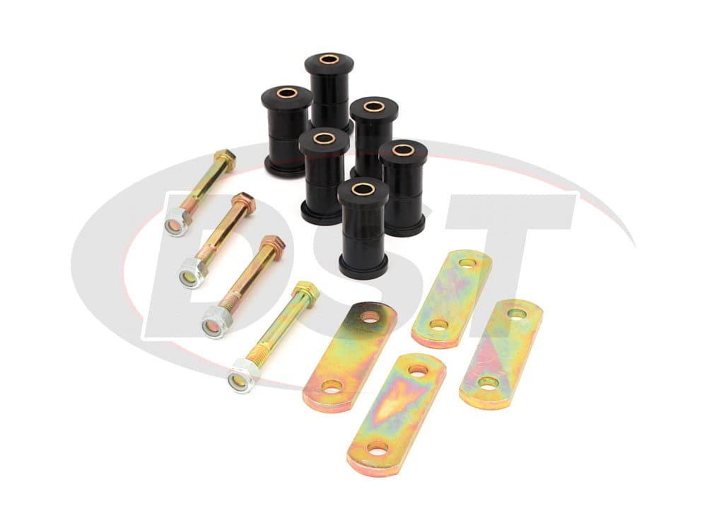 11011 Rear Leaf Spring Bushings and Heavy Duty Shackles