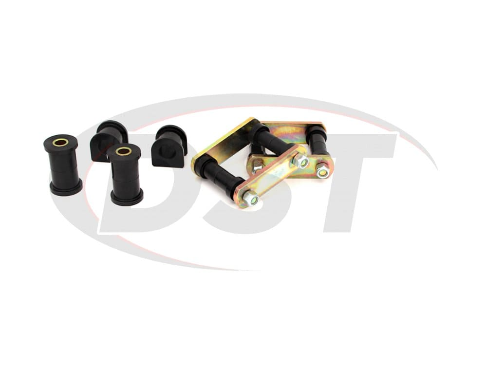 41018 Rear Spring Eye Bushings and Shackles - Super Stock Spring Conversion Kit