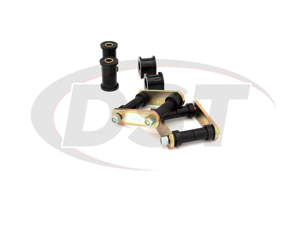 41018 Rear Spring Eye Bushings and Shackles - Super Stock Spring Conversion Kit