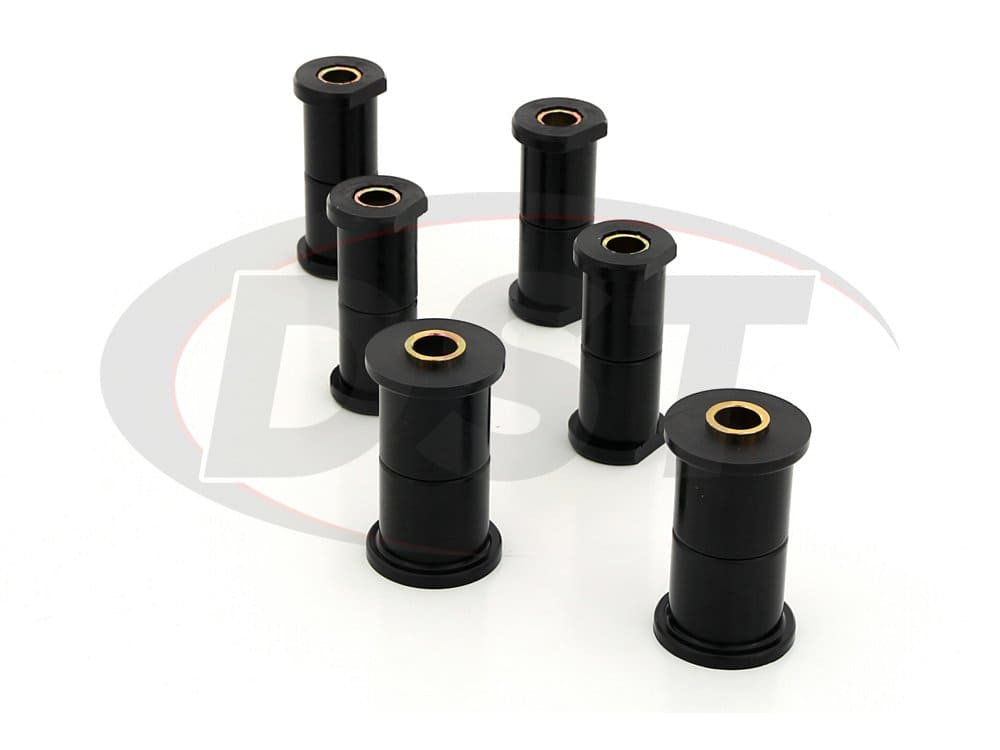 61020 Rear Leaf Spring and Shackle Bushing - with Molded Shackles