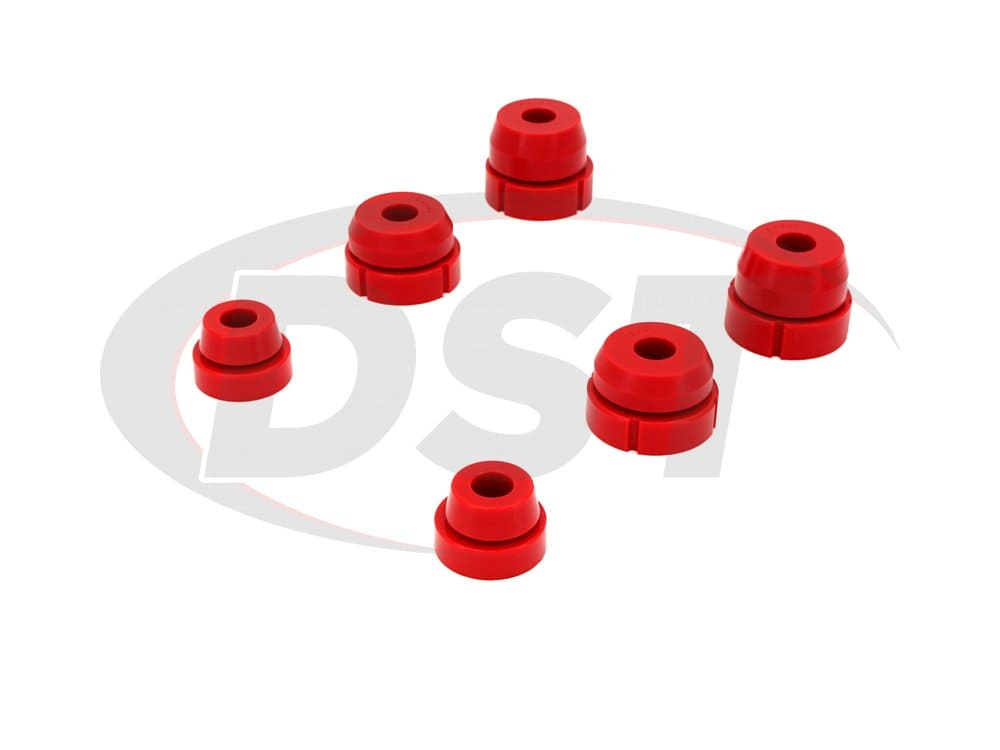 6110 Body Mount Bushings and Radiator Support Bushings - 2WD