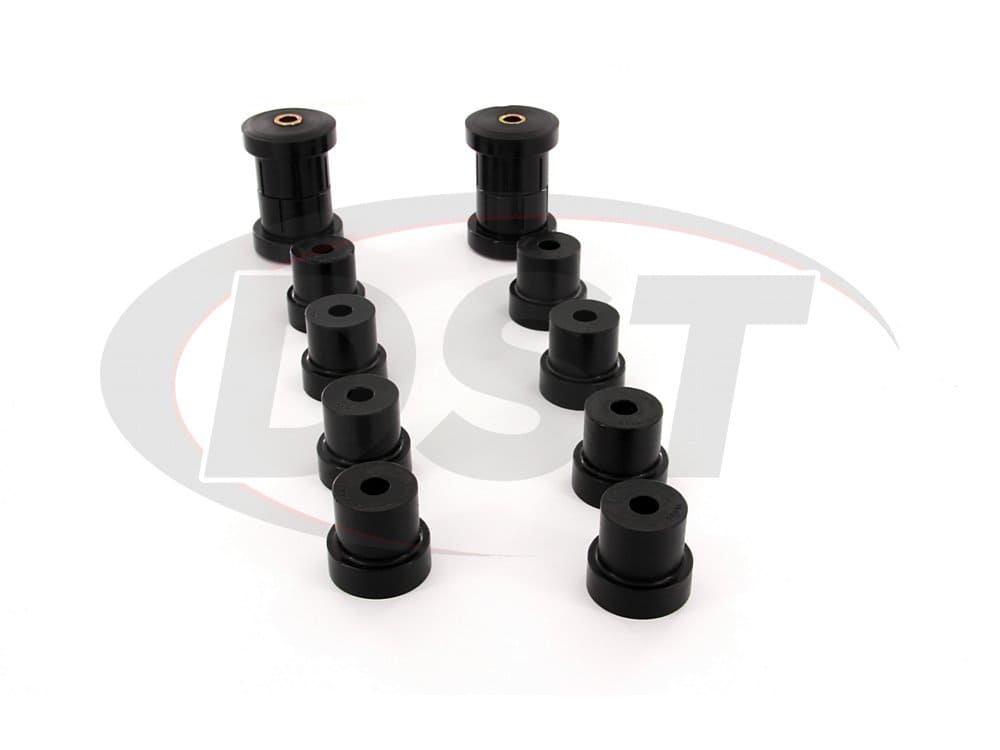 71012 Rear Spring Eye and Shackle Bushing Kit - Multi Leaf