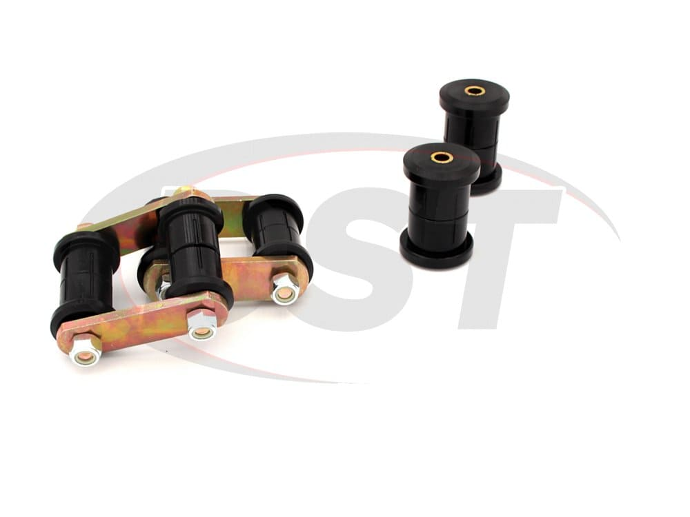 71052 Rear Leaf Spring Eye Bushings and HD Shackle Kit - Mono Leaf
