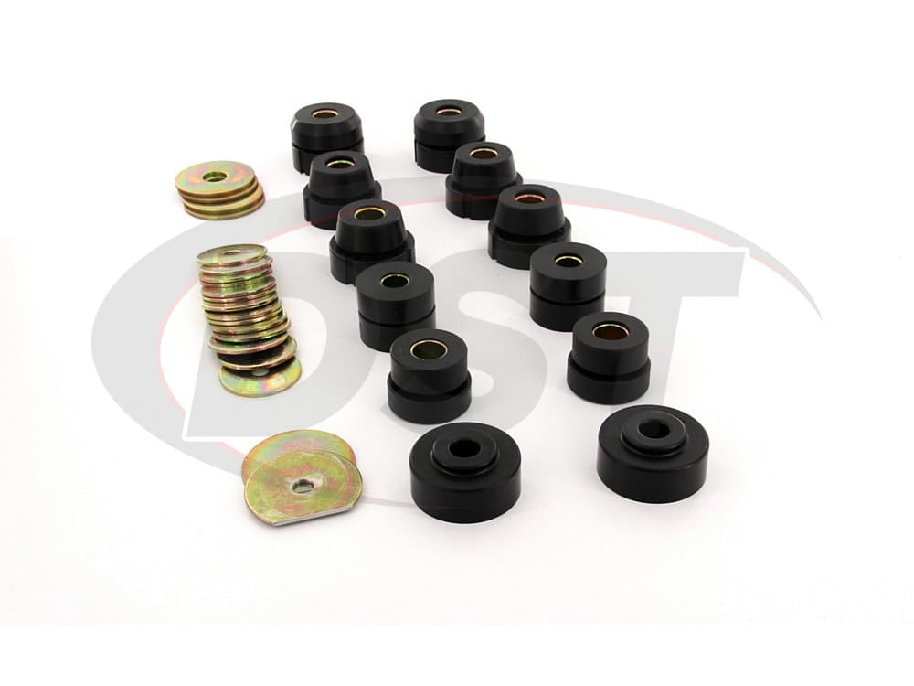 7134 Body Mount Bushings and Radiator Support Bushings - 2 Door Hardtop Only