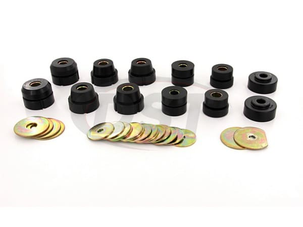 Body Mount Bushings and Radiator Support Bushings - 2 Door Hardtop Only