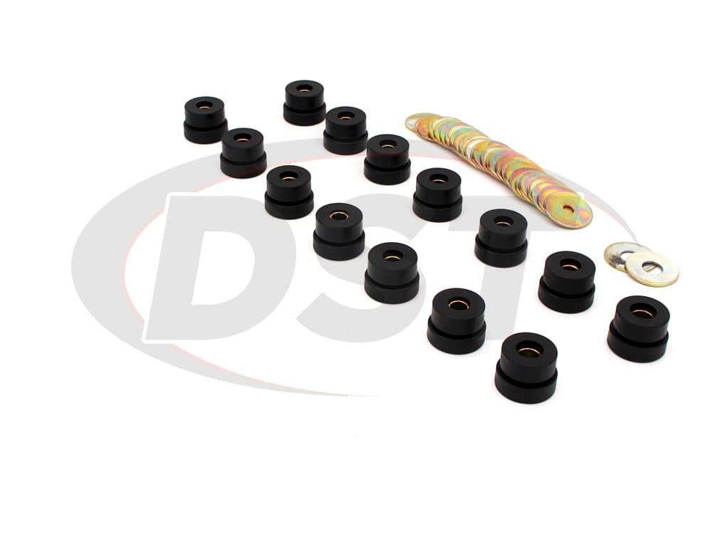 7137 Body Mount Bushings and Radiator Support Bushings - Hardtop and Convertible