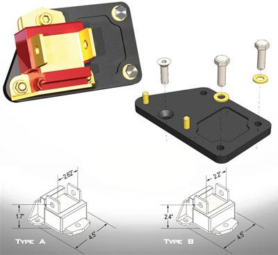 prothane ls1 motor swap adaptor plates