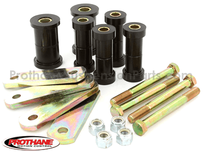 41011 Rear Leaf Spring Bushings and Shackles - 1 1/2in Main Eye