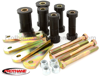 Rear Spring Eye Bushings and Shackles - Super Stock Spring Conversion Kit