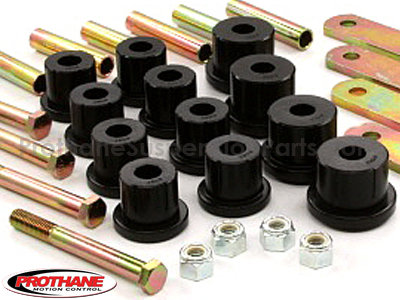 71056 Rear Leaf Spring Bushings with Heavy Duty Shackles - Mono Leaf