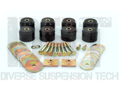 7144 Body Mount Bushings Kit - Hardtop