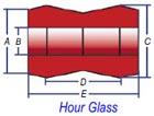 1 piece hourglass