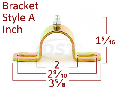 greaseable style a bushing brackets